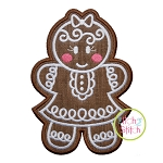 Gingerbread Cookie Girl Applique