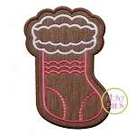Gingerbread Cookie Girly Stocking Applique