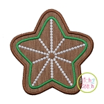 Gingerbread Cookie Star Applique