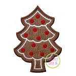 Gingerbread Cookie Tree Applique