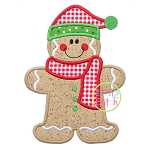 Gingerbread Santa Boy  Applique