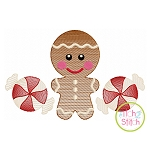 Gingerbread Trio Boy Sketch Embroidery