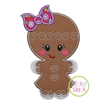 Fancy Gingerbread Girl Applique