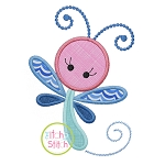 Girly Dragonfly Applique