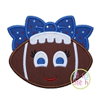 Girly Football Bow Applique