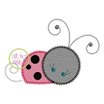Girly Ladybug Sketch Embroidery