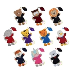 Graduation Animals Applique Set