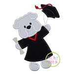 Graduation Dog Applique