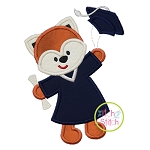 Graduation Fox Applique