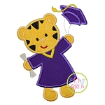 Graduation Tiger Applique