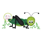 Grasshopper in Grass Applique