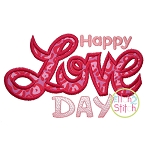 Happy Love Day Satin Applique