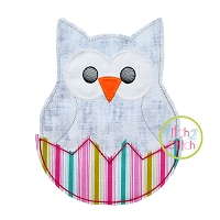 Hatching Owl Bean Stitch Applique