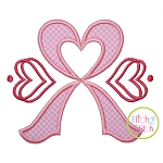 Heart Awareness Ribbon Applique