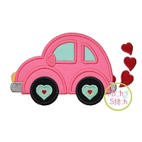 Heart Car Applique