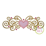 Heart Curls Applique