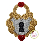 Heart Lock Applique