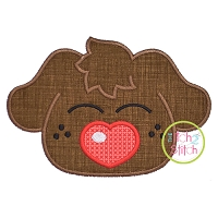 Heart Nose Puppy Boy Applique