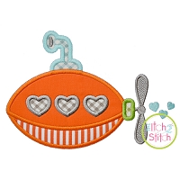 Heart Submarine Applique