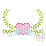 Heart Swag Motif Embroidery