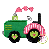 Heart Tractor Applique