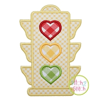 Heart Traffic Light Applique