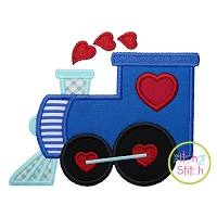 Heart Train Applique