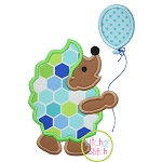 Hedgehog with Balloon Applique