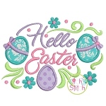 Hello Easter Applique