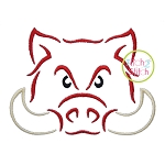 Hog Mascot Embroidery