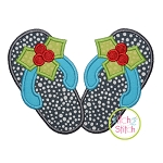 Holly Flip Flops Applique