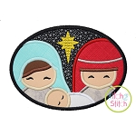 Holy Family Oval Applique