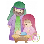 Holy Family Sketch Embroidery