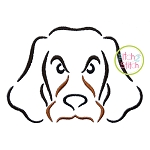 Hound Dog Mascot Embroidery