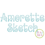 Amorette Sketch Embroidery Font