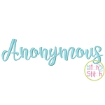 Anonymous Embroidery Font