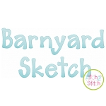 Barnyard Sketch Embroidery Font