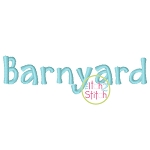 Barnyard Embroidery Font