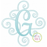 Elegant Scroll Sketch Monogram