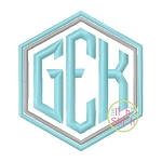 Honeycomb Monogram Embroidery Font