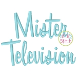 Mister Television Embroidery Font