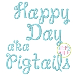 Janda Happy Day (formerly Pigtails) Embroidery Font