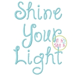 Janda Shine Your Light On Us Embroidery Font