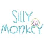 Janda Silly Monkey Embroidery Font