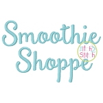 Smoothie Shoppe Embroidery Font