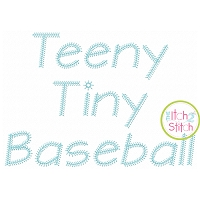 Teeny Tiny Baseball Embroidery Font