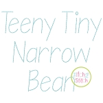 Teeny Tiny Narrow Bean Stitch Embroidery Font