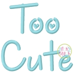 Too Cute Embroidery Font