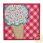 Ice Cream Cone Box Applique