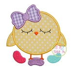 Jelly Bean Chick Applique